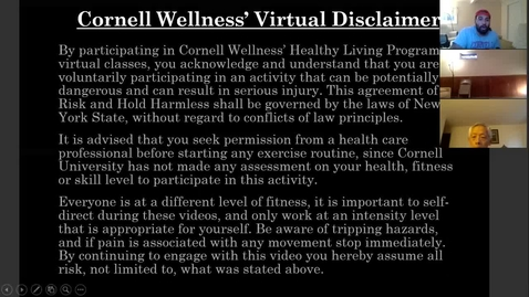 Thumbnail for entry Cornell Wellness Virtual Bootcamp Class #5