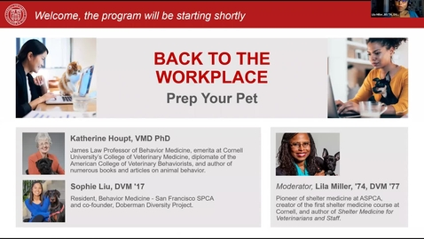 Thumbnail for entry 1_Back to the Workplace: Prep Your Pet