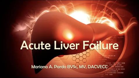 Thumbnail for entry Acute Liver Failure: ACVECC Exam Webinar 7/18/2019