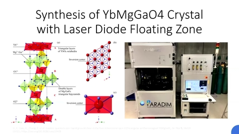Thumbnail for entry PARADIM Summer School 2021: Group Presentation on Laser Diode Floating Zone
