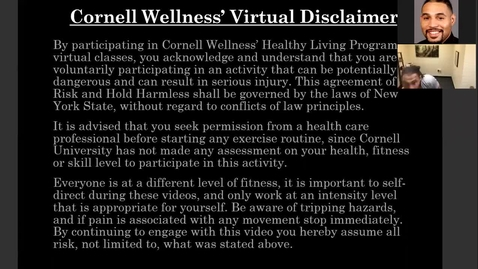 Thumbnail for entry *Cornell Wellness Movement for the Mind Bootcamp #3