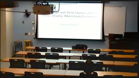 Thumbnail for entry ORIE Colloquium, 2013-02-19 - Santiago Balseiro: Competition and Yield Optimization in Online Display Advertising Exchanges