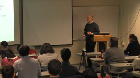 Thumbnail for entry CAM Colloquium, 2015-02-06 - David Easley: Wealth Dynamics and Pareto Optimality in Complete and Incomplete Markets