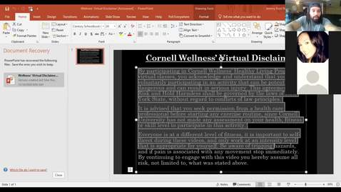 Thumbnail for entry Final Clip of Cornell Wellness Fall 2020 Bootcamp Class Series 2 Class #6