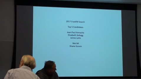 Thumbnail for entry Brian Crane presents top 5 candidates in CryoEM search