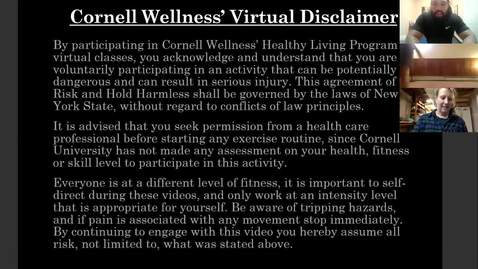 Thumbnail for entry Final Clip of Cornell Wellness Fall 2020 Bootcamp Class Series 2 Class #5