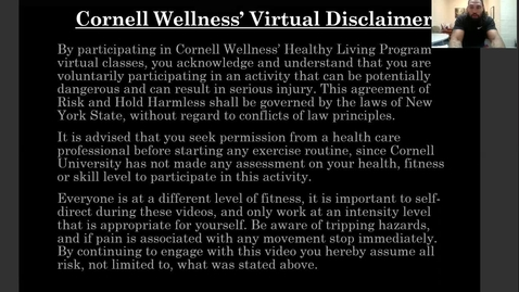 Thumbnail for entry Cornell Wellness Fall 2020 Bootcamp Class Series 2 Class #1