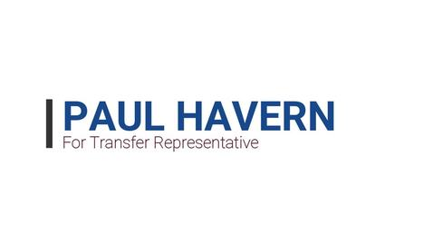 Thumbnail for entry Paul Havern - Transfer Representative Candidate (Fall 2020 Student Assembly Elections)