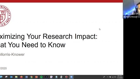 Thumbnail for entry Maximizing your research impact: what you need to know