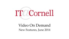 Thumbnail for entry VOD New Features June 2014