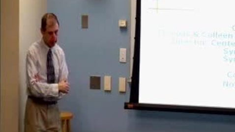 Thumbnail for entry Systems Seminar/Ezra's Round Table, 11/11/2011 - Cliff Davidson