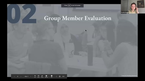 Thumbnail for entry Group Member Evaluation Sample Scenario