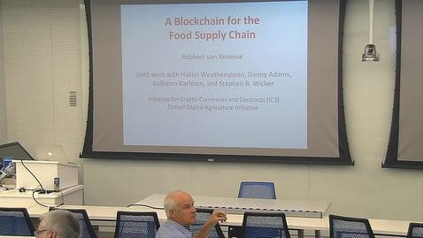 Thumbnail for entry A Blockchain for the Food Supply Chain