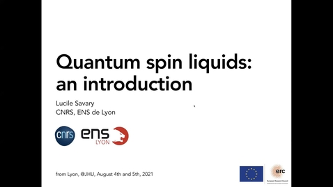 Thumbnail for entry PARADIM Summer School 2021 : Analytical Theory of Magnets (1 of 2)
