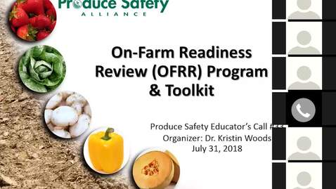 Thumbnail for entry Produce Safety Educator's Call #33