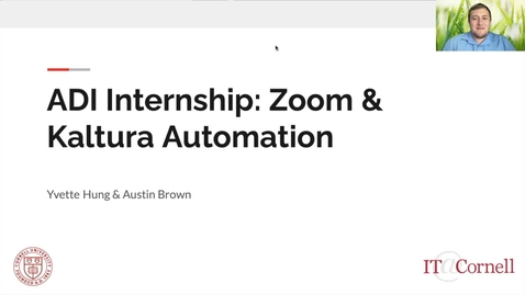 Thumbnail for entry Austin Brown & Yvette Hung - Zoom and Kaltura Automation