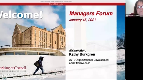 Thumbnail for entry Managers Forum 1/15 - Welcome, Announcements, & Vaccinations