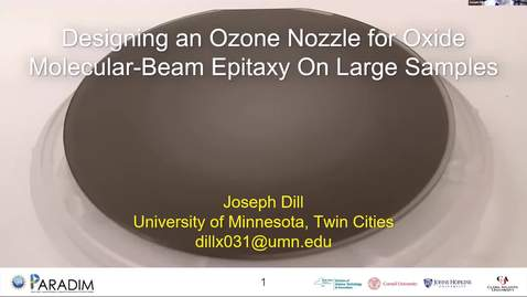 Thumbnail for entry Joseph Dill 2020 REU final presentation