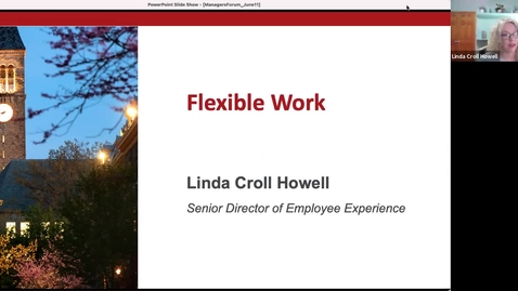 Thumbnail for entry Managers Forum 6/11 - Flexible Work