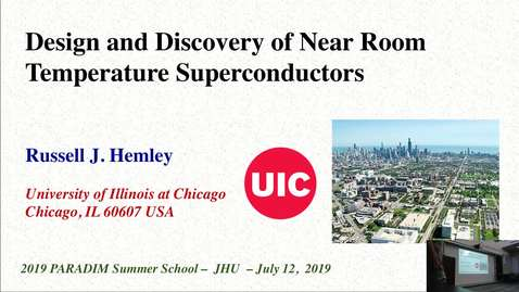 Thumbnail for entry Design and Discovery of Near Room temperature Superconductivity (Hemley)