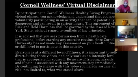Thumbnail for entry Cornell Wellness Virtual Bootcamp Class #4