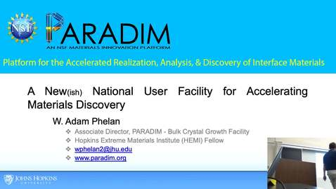 Thumbnail for entry Materials Data-Driven Discovery ( Phelan)