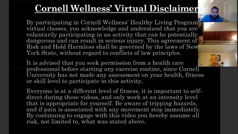 Thumbnail for entry *Cornell Wellness Virtual Bootcamp Class #8