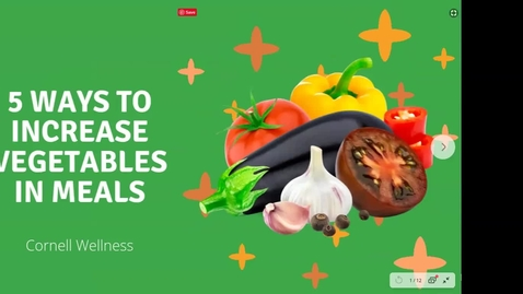 Thumbnail for entry 5 Ways to Increase Vegetables in Meals
