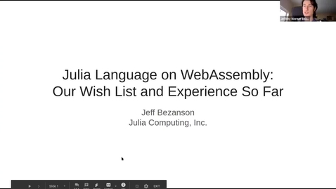 Thumbnail for entry SOIL Seminar: Julia Language on WebAssembly: Our Wish List and Experience So Far