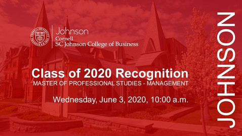 Thumbnail for entry JOHNSON MPS CLASS OF 2020 RECOGNITION