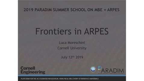 Thumbnail for entry Frontiers in ARPES - Spin & Time-resolved ARPES; thin films, and micro-ARPES.-(Morechini)