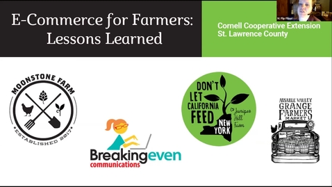 Thumbnail for entry E-Commerce for Farmers: Lessons Learned, CCE of St. Lawrence
