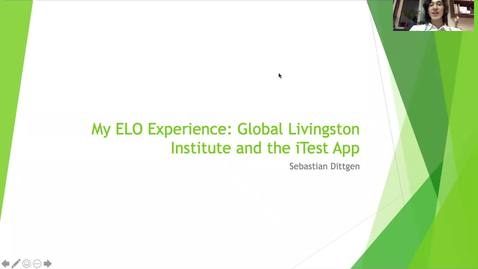 Thumbnail for entry My ELO Experience: Global Livingston Institute and the iTEST App - Sebastian Dittgen