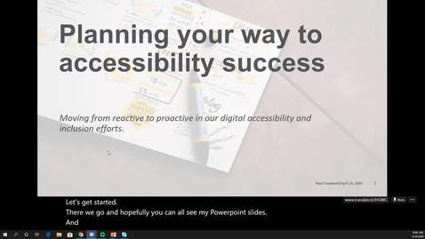 Thumbnail for entry Planning your way to accessibility success webinar recording