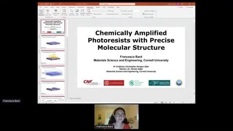 Thumbnail for entry 2021 NNCI REU Convocation, Francesca Bard's Presentation