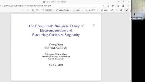 Thumbnail for entry 4/2/21 Yisong Yang CAM Colloquium Talk