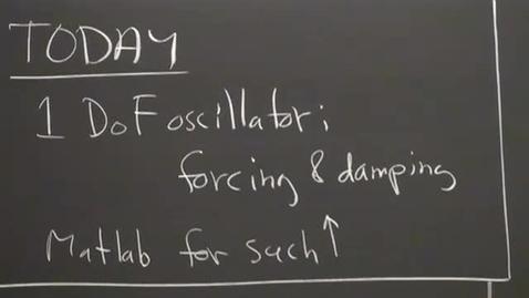 Thumbnail for entry 05 - Forcing & Damping; Resonance; 1 DoF Oscillator Session 5
