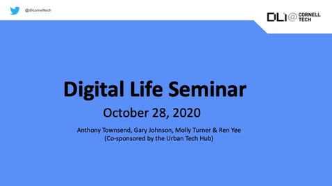 Thumbnail for entry Digital Life Seminar | Urban Tech Hub