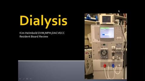 Thumbnail for entry Dialysis: ACVECC Exam Webinar July 24, 2019