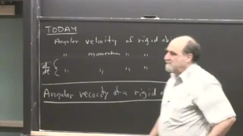 Thumbnail for entry 17 - Angular velocity momentum of rigid object Session 17
