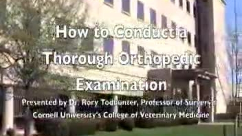 Thumbnail for entry Dr. Todhunter's Lameness Exam