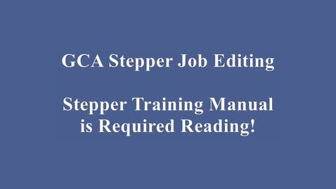 Thumbnail for entry GCA Wafer Stepper Job Editing Video