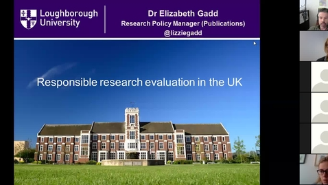 Thumbnail for entry Responsible Metrics in the UK: Elizabeth_Gadd_Webinar_6_18_18