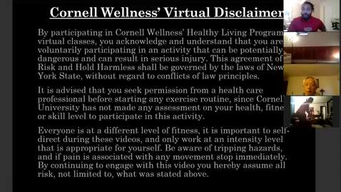 Thumbnail for entry Cornell Wellness Virtual Bootcamp Class #7