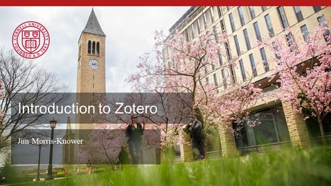 Thumbnail for entry Introduction to Zotero