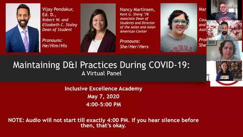 Thumbnail for entry IEA- Maintaining D&I Practices During COVID-19 - May 2020