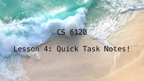 Thumbnail for entry CS 6120: Lesson 4: Implementation Task