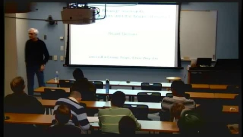 Thumbnail for entry CAM Colloquium November 30, 2012 - Stuart Geman