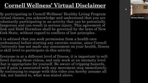 Thumbnail for entry Cornell Wellness Virtual Spring Bootcamp Class #8