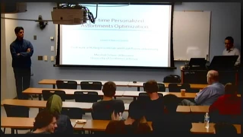 Thumbnail for entry ORIE Colloquium, 2014-09-16 - Hamid Nazerzadeh: Real-time Optimization of Personalized Assortments